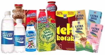 Produk minuman, susu, teh, dan penyegar