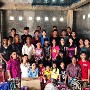 Kunjungan ke panti yatim piatu Kasih Nusantara Lampung